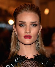 Rosie Huntington-Whiteley attends the 2013 Costume Institute Gala - PUNK: Chaos to Couture at Metropolitan Museum of Art on May 6, 2013 in New York City.