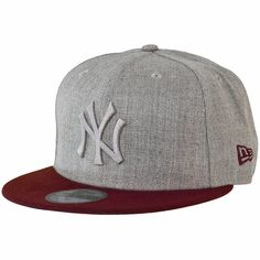 NE 59fifty Fitted Cap Poptonal NY Yankees heathergrey/maroon ★★★★★