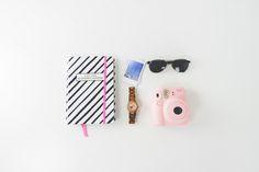 Flatlay Sunglasses Agenda Instax by epicerie du blog on @creativemarket