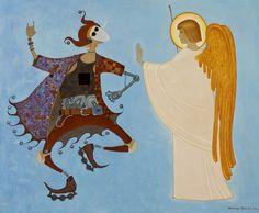 Репродукции картин - Простев Александр - Ангел, принимающий душу блаженной Ксении Петербургской
