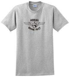 Drone Accessories Aerial Drone Pilot Quadcopter T-Shirt XL Ash -- You can get more details by clicking on the image.