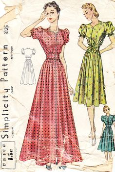 Vintage 1930s Misses' Casual Day Dress or by daisyepochvintage, $14.00