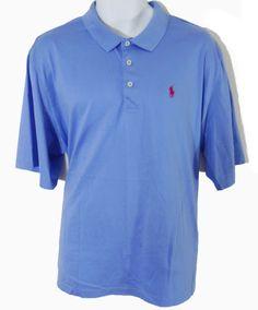 Men's Casual Shirt POLO GOLF by Ralph Lauren Blue SIZE XL