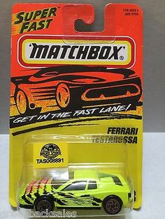 Matchbox Cars - Ferrari Testarossa This item is NOT in Mint Condition and is in no way being described as Mint or even Near Mint. Our toys have not always lead the perfect life, nor have they been tre