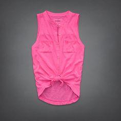 girls jill knit shirt | girls sleeveless tops | abercrombiekids.com