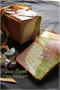 Marbled Loaf Bread, An Attempt too Bake Grand Marble Kyoto's Tricolour Bread ❤ Bread Toast, Bread Bun, Loaf Recipes, Candy Recipes, Jiggly Cheesecake, Japanese Bread, Japanese Food, Different Types Of Bread, Amazing Food Photography