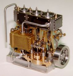 Bill Huxhold's 1997 entry in the Sherline contest was this very intricate triple expansion steam engine.