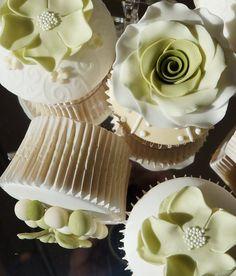 Shades of Green Wedding Cupcakes  Cake by Gills Cupcake Corner