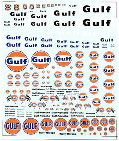 Gulf Racing Decals | SP-006 Gulf