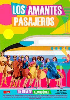 Versión del poster de cine Los amantes pasajeros. Almodovar.