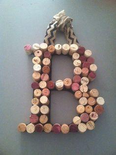 Wine cork family initial