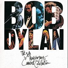 Bob Dylan – The 30th Anniversary Concert Celebration. Recorded on October 16, 1992 at Madison Square Garden in New York City, it captures most of the concert, which featured many artists performing classic Dylan songs, before ending with three songs from Dylan himself.
