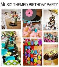 Music themed birthday party