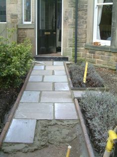 Front Yard Garden Design Front Path and Victorian Edging Tiles