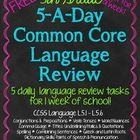 """This resource is designed to be used on a daily basis (Monday-Thursday) for 1 week.  The week has 20 (""""5 a Day"""") language-skills tasks that can be ..."""