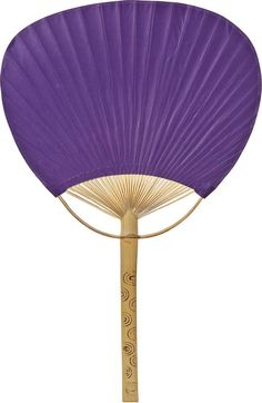 Plum Purple Paper Paddle Fan
