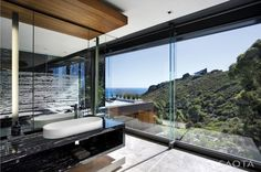 Modern multi-level cliffside property in South Africa