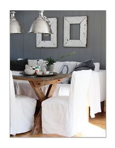 comfy seating rustic wood and industrial lighting