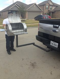 Grill BBQ pit from a keg with detachable hitch