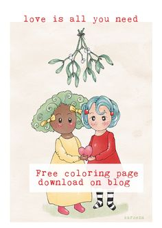 Free really cute christmas coloring page, digistamp for all your crafts like journaling, scrapbooking, project life and card making.  Great DIY this holidays.