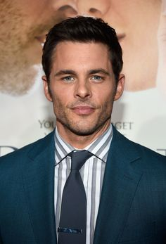 """We could drown in JAMES MARSDEN's blue eyes at the premiere of """"The Best of Me."""" Grooming by DAVID STANWELL"""