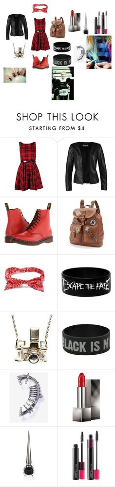 """""""Michael Clifford inspired!"""" by pipergrace93 ❤ liked on Polyvore featuring ONLY, Dr. Martens, Mudd, Kiel Mead Studio, Burberry, Christian Louboutin, MAC Cosmetics and Free People"""