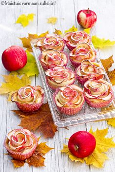 Maistuis varmaan sullekin!: Omenaruusut Cooking Photography, Cupcakes, Vegetables, Party, Lifestyle, Food, Cupcake Cakes, Essen, Food Photography