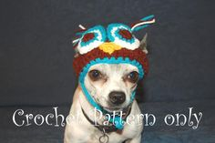 Dog Owl Beanie Hat - via @Craftsy