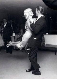 Jayne mansfield and mickey hargitay dancing. in berlin,1961