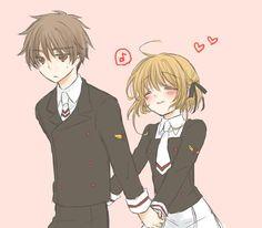 Sakura and Shaoran from CCS