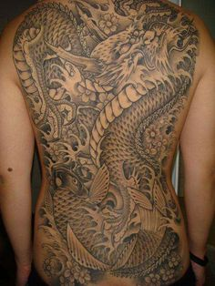 Dragon and Koi tattoo