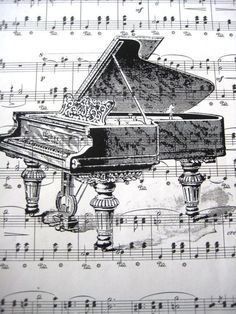 """See 11 photos and 5 tips from 36 visitors to Piano Trends Music Company. """"Piano Trends has excellent service and commitment to individual customers. Sheet Music Crafts, Sheet Music Art, Vintage Sheet Music, Piano Music, Diy Mod Podge, Vintage Illustration, Music Artwork, Music Decor"""
