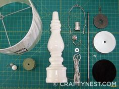How to rewire a lamp and paint a lampshade.  http://www.craftynest.com/2012/03/painted-lamp-shade-rewired-lamp-diy-finial/#2