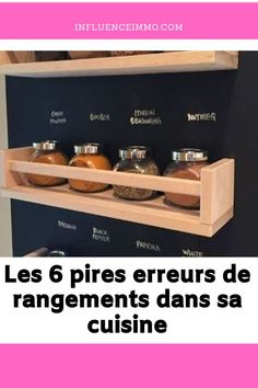 Ideally, store them in matching pots to add charm to your kitchen. It's also a convenience when it c Decor Crafts, Diy Home Decor, Cuisines Diy, Diy Home Cleaning, Architecture Art Design, Decor Logo, French Decor, Kitchen Storage, Entryway Decor