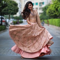 Every Indian Bride has her own designer wedding lehenga dreams. We have picked our favourite stunning bridal lehenga colors that are not red Indian Wedding Outfits, Indian Outfits, Indian Attire, Indian Wear, Engagement Dresses, Lehenga Designs, Bridal Lehenga, Silk Lehenga, Indian Designer Wear