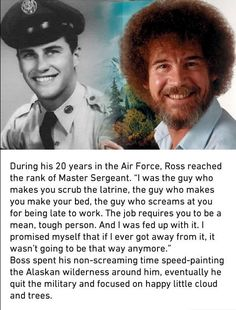 4d229221f492f Bob Ross  When asked about his laid-back approach