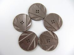 Vintage Lot of 5 Marbled Light Brown Carved Bakelite Buttons * 35 mm *** # B-122 by TheTreasureBoxOrna on Etsy