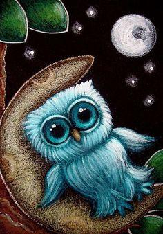 BABY OWL DREAM - A MOON BEAD