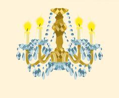 chandelier, illustration for kids, adobe photoshop