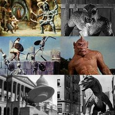 3/28/14  5:39a  Ray Harryhausen Creatures:  ''The Golden Voyage of Sinbad''  Six  Armed  Indian Goddess  'Kali' 1974   ''Twenty Million Miles  to Earth''   'Ymir' 1958  ''Jason and the Argonauts''  'Skeletons'  1963    ''The Seventh Voyage of Sinbad''  'Cyclops' 1958  ''Earth vs the Flying Saucers''   'Saucer'  1956     ''The Beast from 20,000 Fathoms''    'Rhedosaur' 1953 mattfraction.com