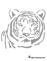 free printable tiger stencil