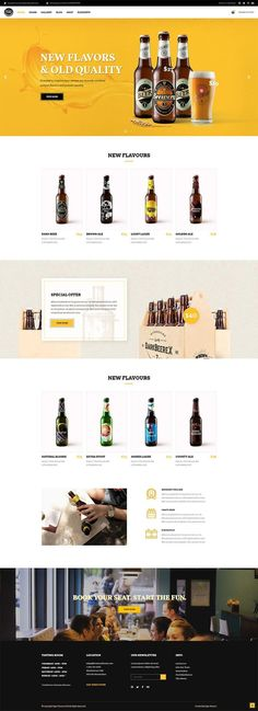 Make your website a must-visit place for all the beer lovers with Pints&Crafts, a WordPress theme crafted for breweries, pubs and bars. Thanks to its practical set of options & layouts you can enjoy the round of online perfection. It's on Pints&Crafts. Site Web Design, Online Web Design, Website Design Layout, Wordpress Website Design, Web Design Services, Web Layout, Layout Design, Website Designs, App Design