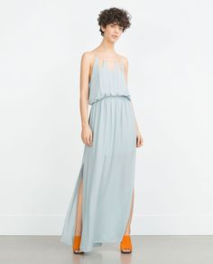 LONG DRESS WITH CHAIN NECKLINE-View all-Dresses-WOMAN-SALE   ZARA United States