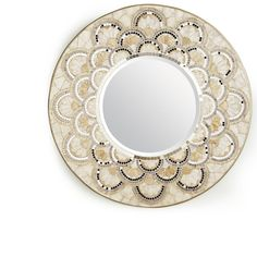 Pearl & Gold Round Mirror - Pier1 US ...could I make something like this??
