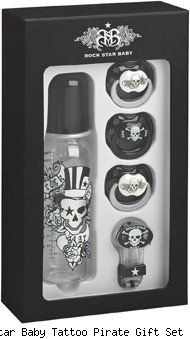 Rockstar baby bottle gift set #pirate #rockstar #tattoo #skull