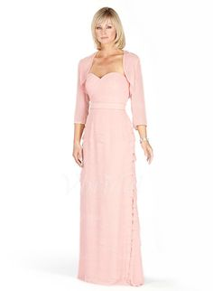 Mother of the Bride Dresses - $149.99 - A-Line/Princess Sweetheart Floor-Length Chiffon Charmeuse Mother of the Bride Dress With Ruffle (00805007381)