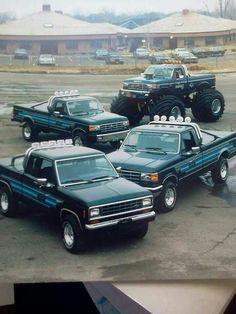 Remember these Bigfoot trucks? Big Ford Trucks, 4x4 Trucks, Lifted Trucks, Cool Trucks, Farm Trucks, Custom Trucks, Ford 4x4, Car Ford, Big Monster Trucks