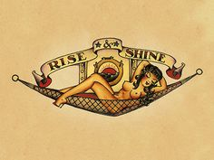 Sailor Jerry Tattoo Flash- i like this mostly because of the hammock