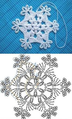 Crochet Patterns Christmas Crochet Snowflake Pattern 00 07 Wonderful DIY Crochet Snowflakes With Pattern Crochet Diy, Filet Crochet, Crochet Motifs, Crochet Home, Thread Crochet, Crochet Stitches, Crochet Gratis, Crochet Snowflake Pattern, Crochet Stars