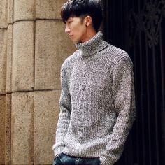 Đặt hàng Áo len nam chui đầu cổ cao thời trang chất lượng cao